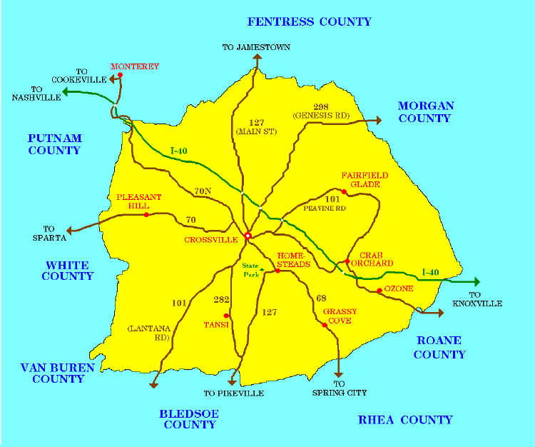 map of Cumberland County